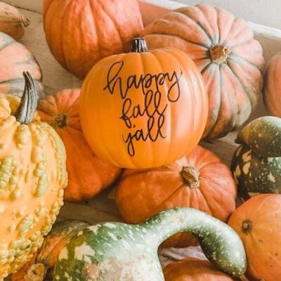 Shop Hop & Pumpkin Lettering